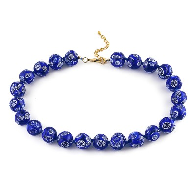 Colier MOSAICO GRANDE albastru royal