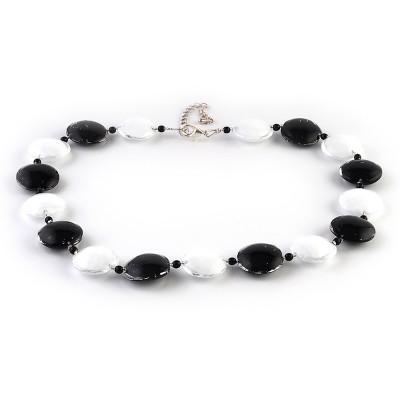 Colier COLOMBA negru cu alb
