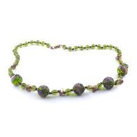 Colier FLOREALE verde olive
