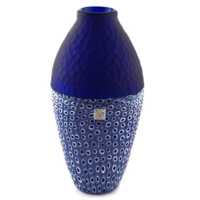 Vaza PAVONE albastru cu murine