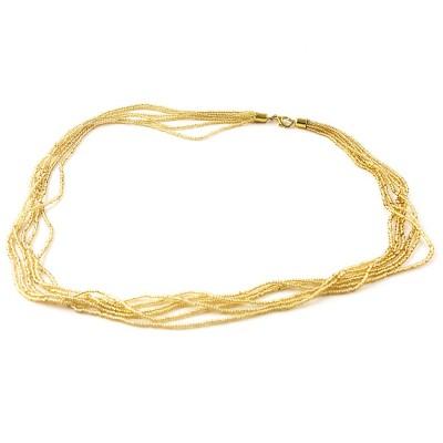Colier FILI 6 auriu margea rotunda