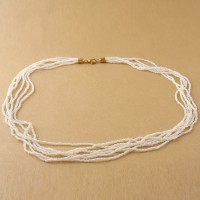 Colier FILI 6 alb perlat