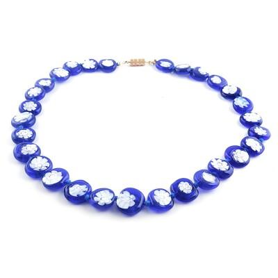Colier GIOVANE albastru royal