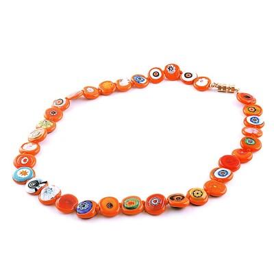 Colier GIOVANE portocaliu cu murine